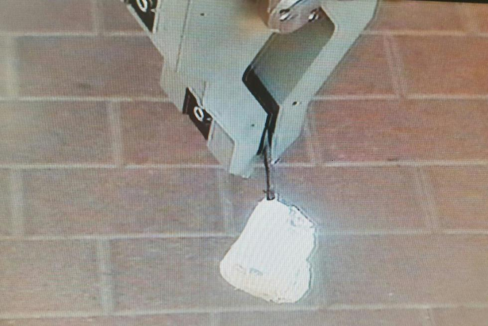 Police robot neutralizes combustible object attached to an incendiary kite