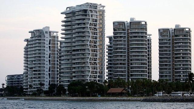 סנטוסה סינגפור ה אי שבו ייפגשו דונלד טראמפ קים ג'ונג און ארה