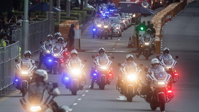 אבטחה בסינגפור לרגל הגעת דונלד טראמפ (צילום: Getty Images)