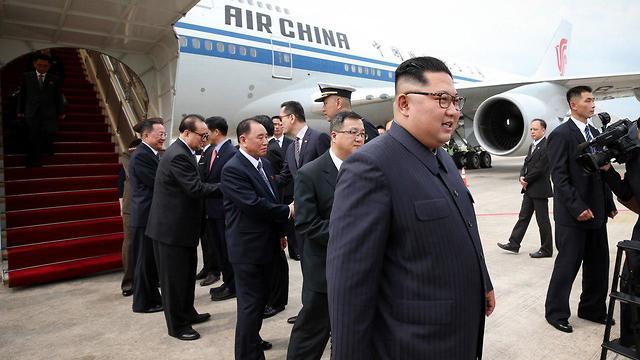 הגעת קים ג'ונג און לסינגפור (צילום: ZUMAPRESS.COM/TNS   )