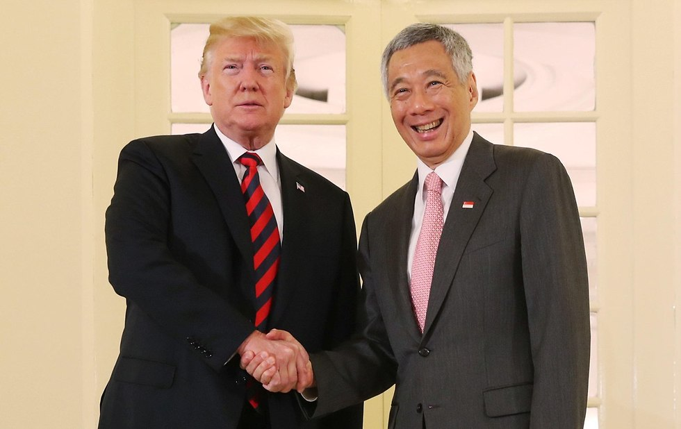 US President Donald Trump with Singapore's Prime Minister Lee Hsien Loong (Photo: Reuters)