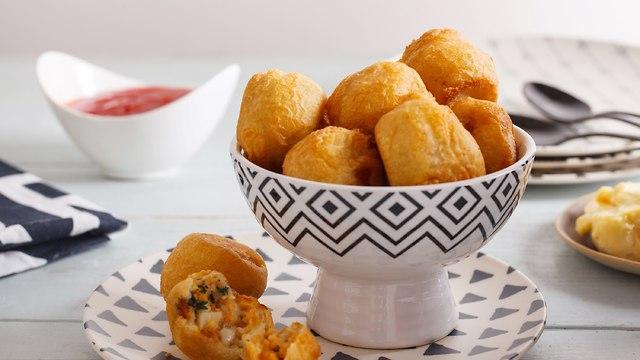 כדורי תפוחי אדמה עם גבינה (צילום: אפיק גבאי)