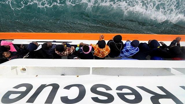 ספינת הצלה, אקווריוס (צילום: רויטרס)