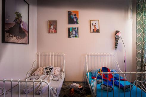 חדרם של שני הילדים הקטנים יותר (צילום: שחר שדרין - SHEDRIN STUDIO)