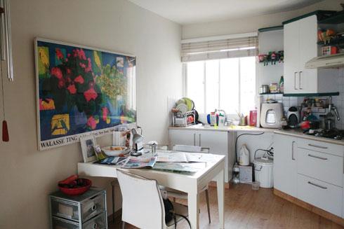 המטבח לפני השיפוץ (צילום: פלביה גרסיה בן זאב)
