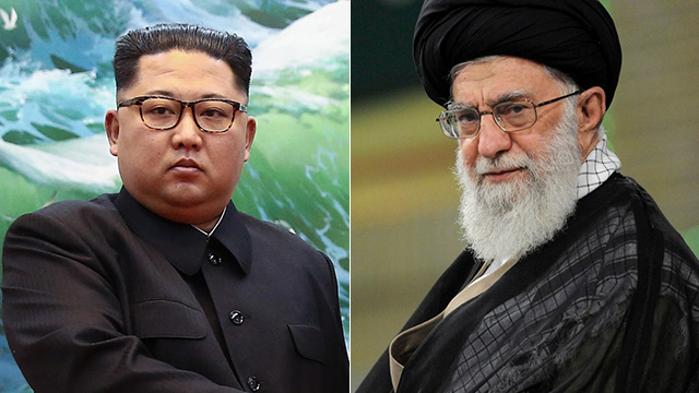 עלי חמינאי וקים ג'ונג און (צילום: AP, AFP)