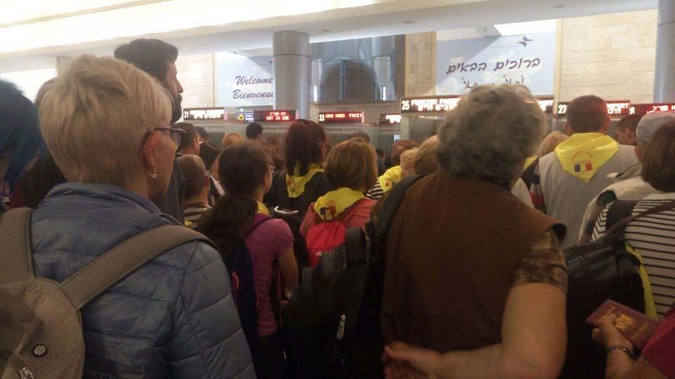 Паспортный контроль в аэропорту Бен-Гурион: репатрианты - вне очереди. Фото: Сара-Виктория Мындреску