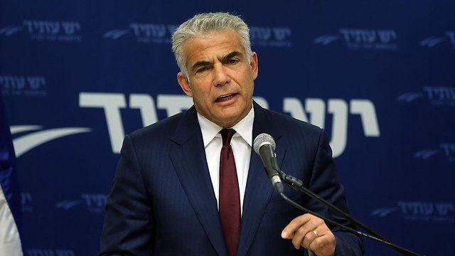 Yesh Atid leader Lapid (Photo: Alex Kolomoisky)