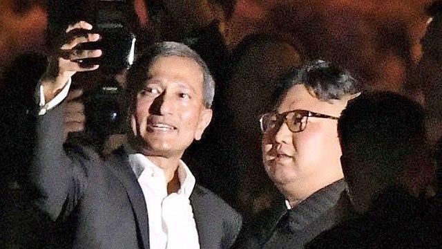 קים ג'ונג און עם ויויאן בלקרישנאן (צילום: רויטרס)