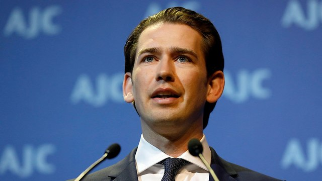Austrian Chancellor Sebastian Kurz at the AJC conference (Photo: EPA)