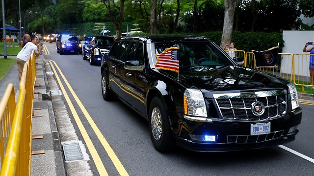 השיירה האמריקנית בדרכה לפסגה (צילום: רויטרס)