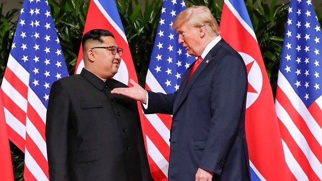 קים ג'ונג און ודונלד טראמפ (צילום: AP)