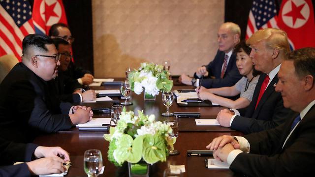 קים ג'ונג און ודונלד טראמפ (צילום: רויטרס)
