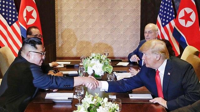 קים ג'ונג און ודונלד טראמפ (צילום: EPA)