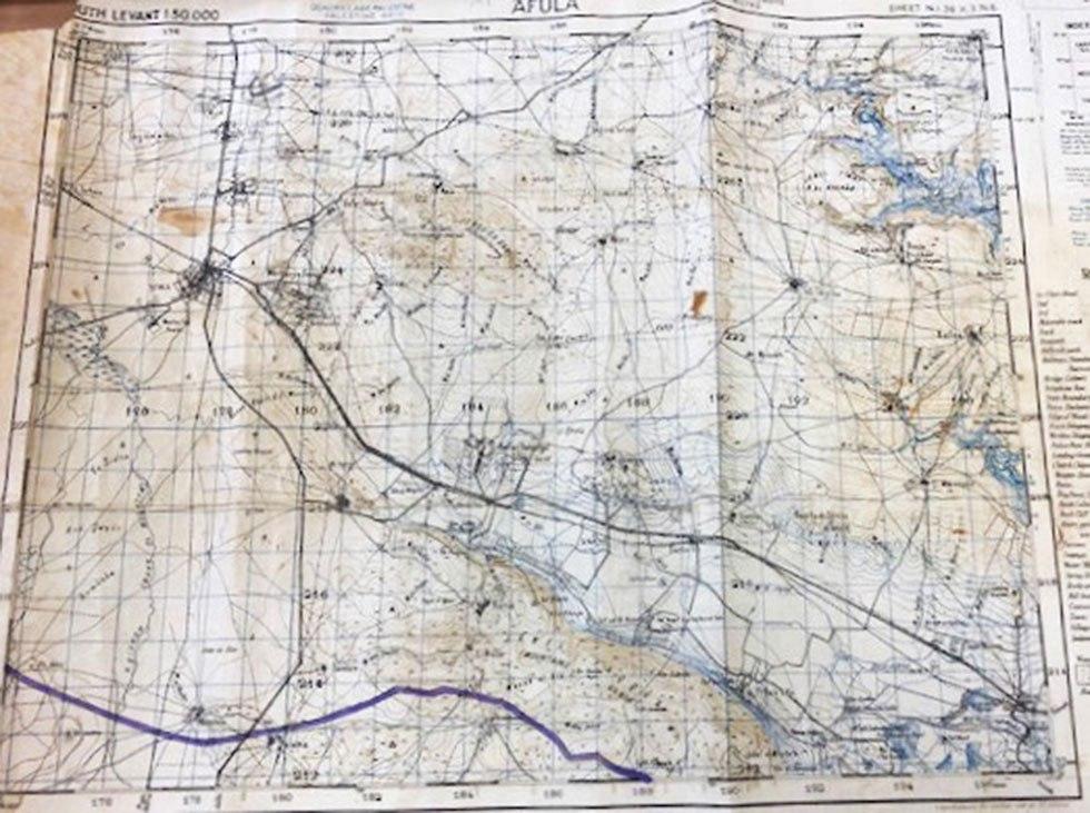 מפות שהוחזרו לצה