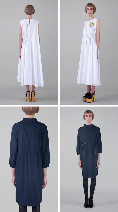 למעלה: שמלה של כליל שילה x רונן חן. למטה: שמלה של פארס עבאד אל רחמן x רונן חן (צילום: גיא נחום לוי)