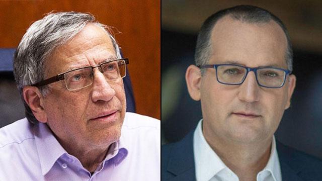 ישראל זינגר ראש עיריית רמת גן רן קוניק ראש עיריית גבעתיים (צילום: אלעד מלכה)