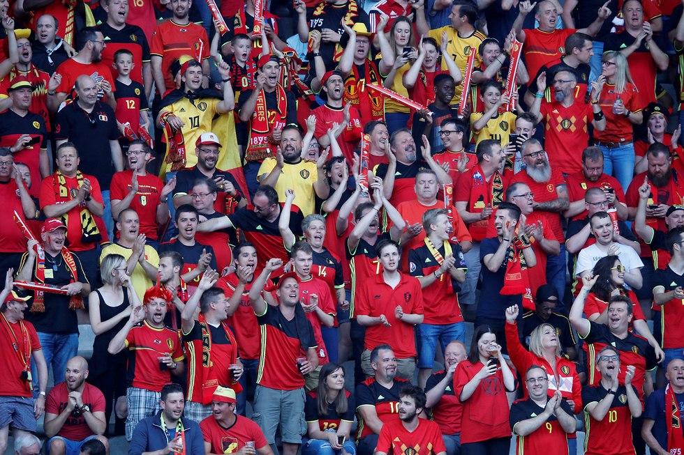 אוהדי נבחרת בלגיה (צילום: רויטרס)