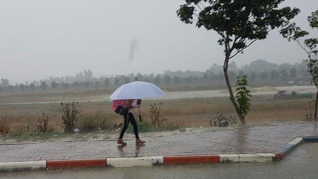 שדה צבי גשם תחזית מזג אוויר (צילום: המועצה האזורית מרחבים)
