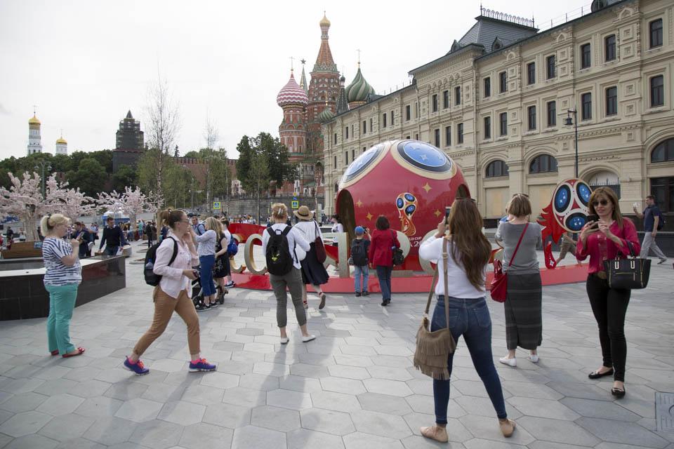 Москва перед Мундиалем. Фото: AP
