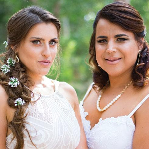 חתונה שניה. עמית בחתונה עם שירלי (צילום: ניסים וקנין)