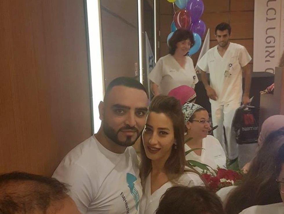 ת'אאר חליל עם בת זוגתו, תושבת דיר אל אסד ()