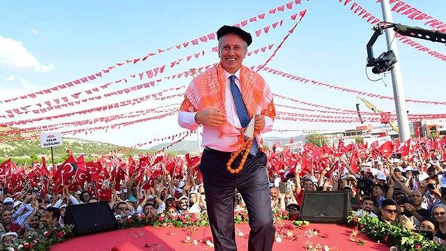 מוהרם אינצ'ה מועמד לנשיאות טורקיה  (צילום: AP)