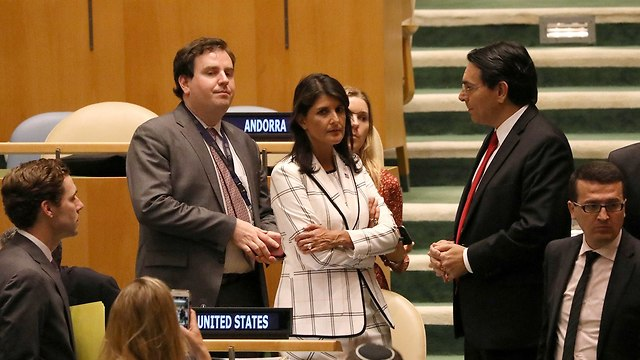 Nikki Haley with Israel's UN Envoy Danny Danon (Photo: Reuters)