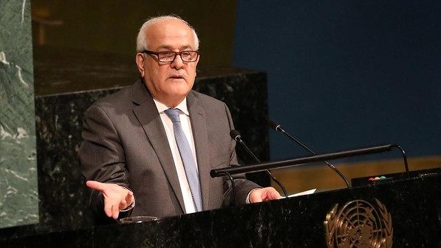 Palestinian Ambassador Riyad Mansour (Photo: Reuters)
