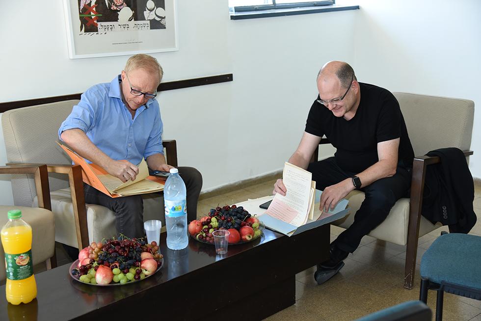 רכילות עסקית גיל שוויד ודוד גרוסמן (צילום: אירית טל, תיכון ליד