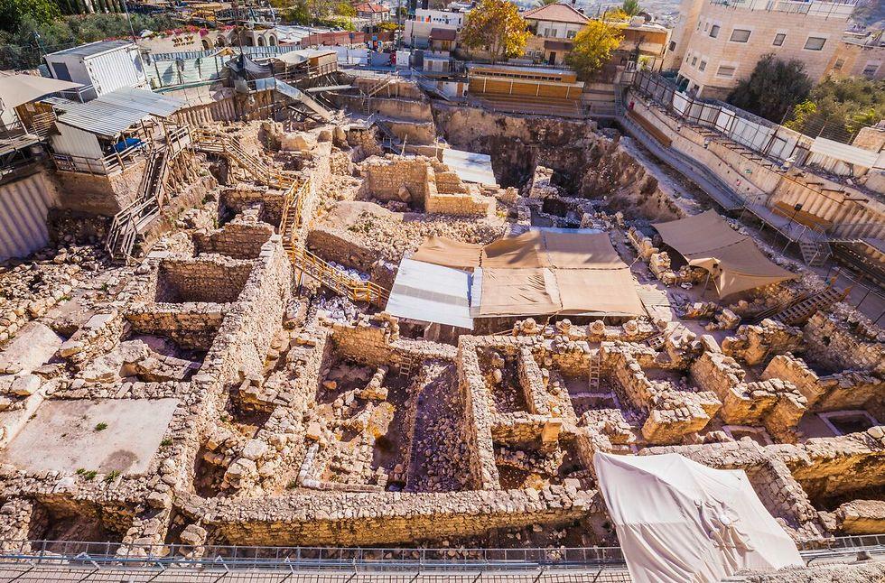 חפירות חניון גבעתי (צילום: קובי הראתי - ארכיון עיר דוד)