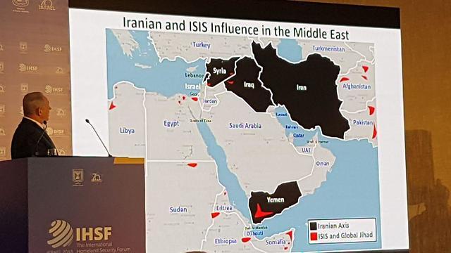 בנימין נתניהו בפורום הגלובאלי למאבק בטרור (צילום: ענבר טויזר)
