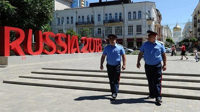 קוזאקים מאבטחים את אירוע המונדיאל (צילום: רויטרס)