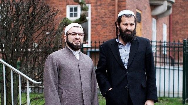 Salahuddin Barakat, left, and Moshe-David HaCohen