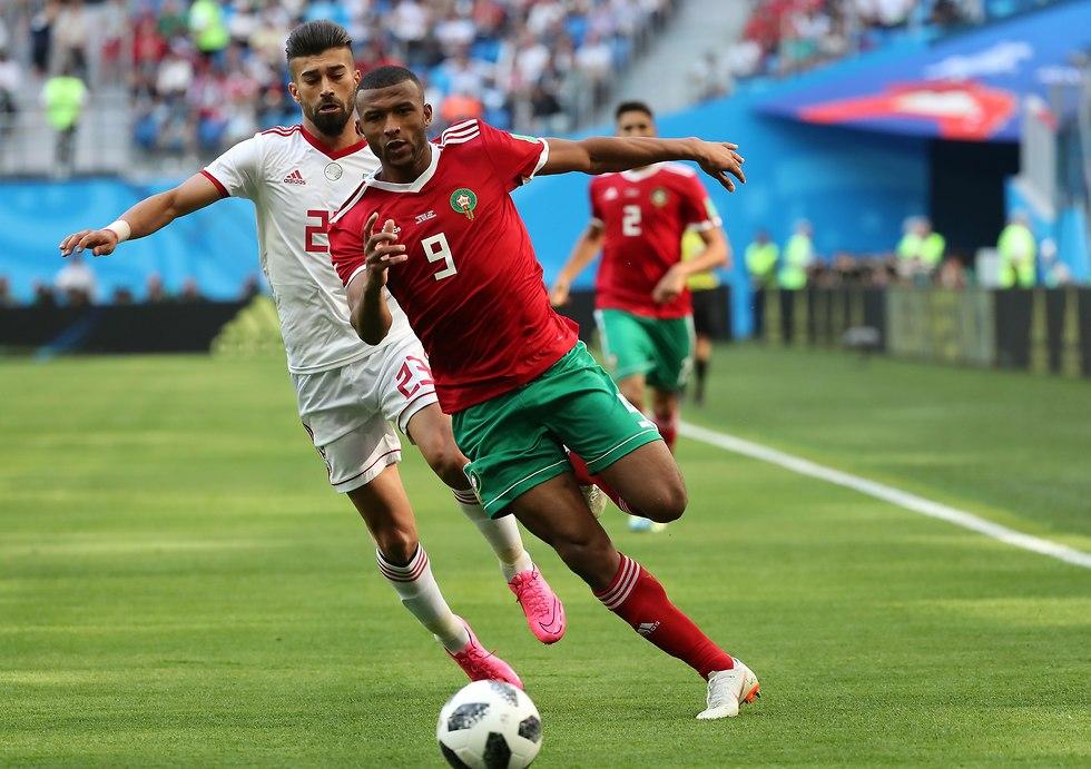 ראמין רזיאן מול איוב אל-כעבי (צילום: EPA)
