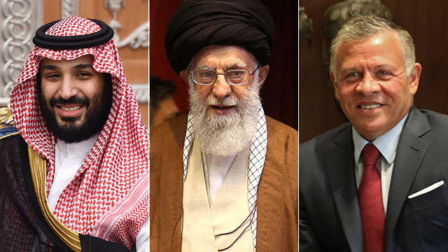 From left to right: Saudi Crown Prince Mohammad bin Salman, Iranian Supreme Leader Ayatollah Ali Khamenei and Jordan's King Abdullah  (Photo: MCT, AFP)