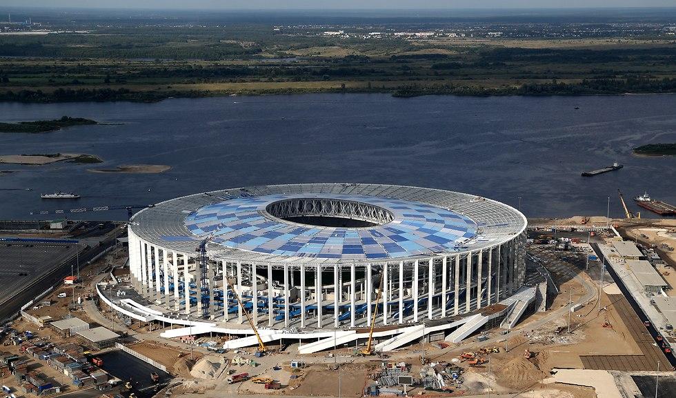 האצטדיון בניז'ני נובגורוד (צילום: getty images)