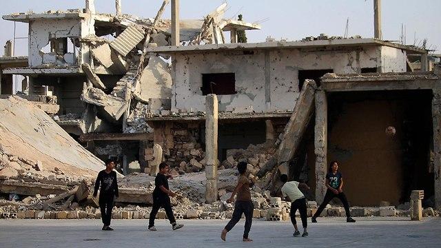דרעא סוריה מלחמה (צילום: AFP)