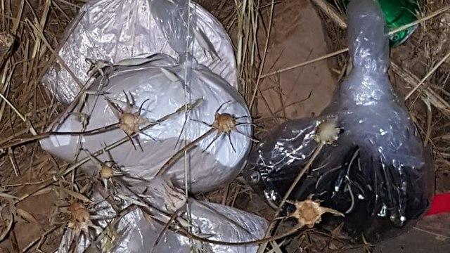 Взрывчатые вещества, изъятые у террористов. Фото: ЦАХАЛ