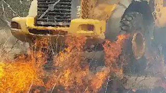 טרור העפיפונים באזור אשכול (צילום: קק