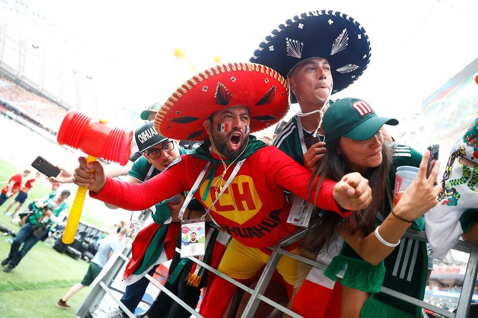 אוהדי נבחרת מקסיקו (צילום: רויטרס)