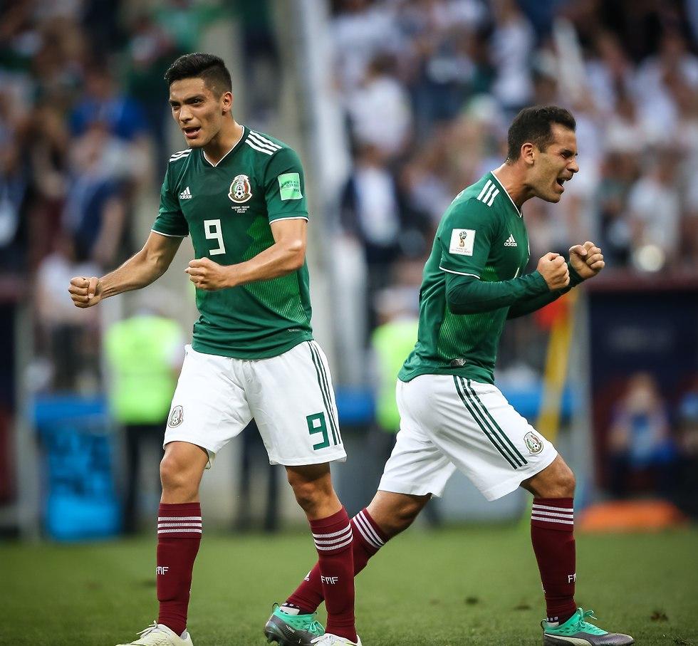 מקסיקו חוגגת ניצחון על גרמניה (צילום: עוז מועלם)