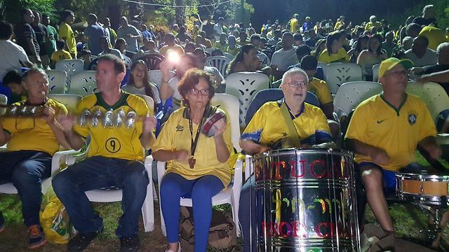 Группа подержки Бразилии в кибуце на юге Израиля. Фото: Рои Идан