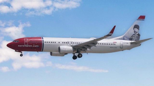 מטוס נורוויג'ן איירליינס  (צילום: דני שדה)