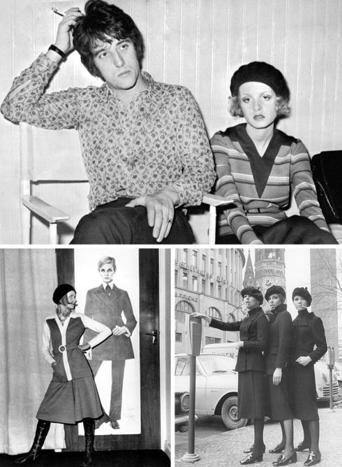 גם הפקות אופנה רבות נעשו בהשראתה של בוני פרקר משנות ה-60 ואילך. כאן בתמונות עם הדוגמנית הנודעת טוויגי  (צילום: AP)