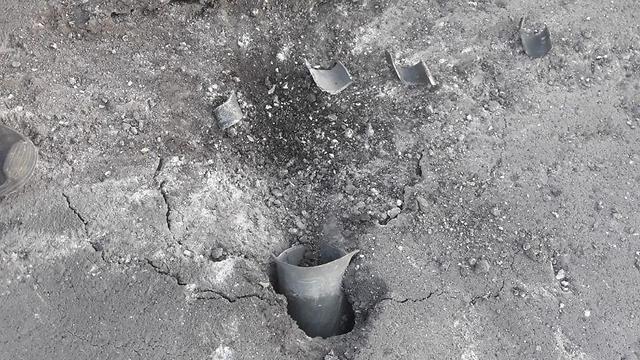Rocket hits Eshkol Regional Council (Photo: Eshkol Security)