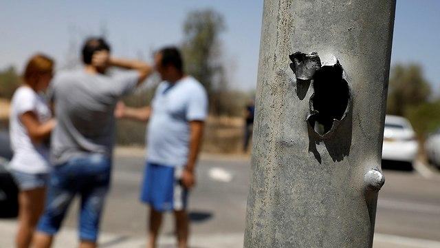 הנזקים בעוטף עזה (צילום: רויטרס)