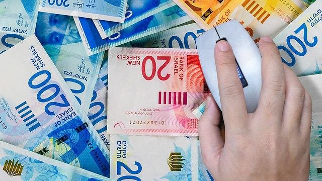 עכבר מחשב ושטרות כסף (אילוסטרציה: Shutterstock)