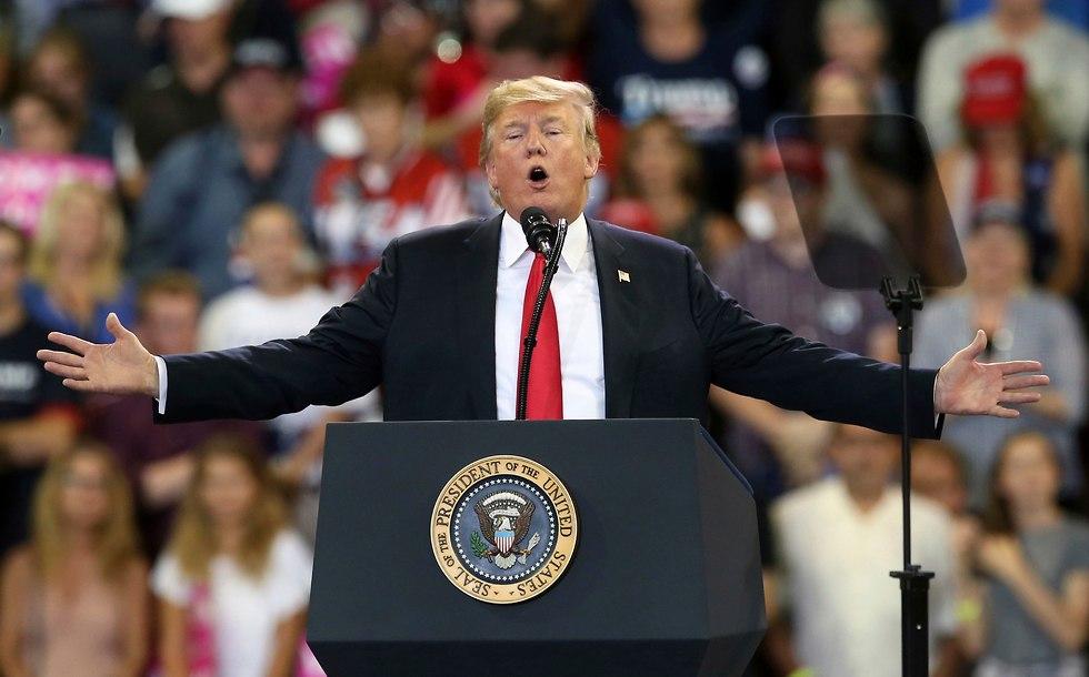 הנשיא האמריקני דונלד טראמפ (צילום: AP)