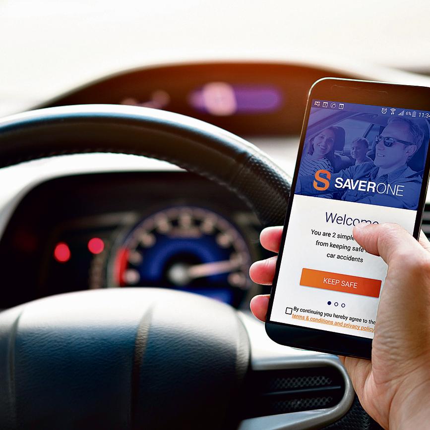 אפליקציית SaveOne החוסמת גלישה. אי־אפשר להשתמש ברכב אם היא לא מופעלת   צילום: SaverOne